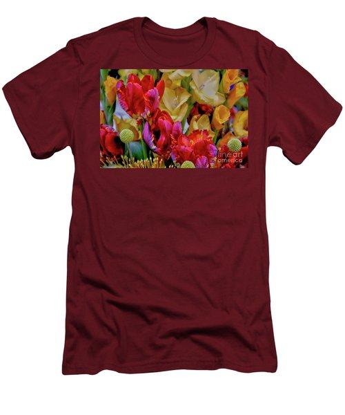 Tulip Bouquet Men's T-Shirt (Slim Fit) by Sandy Moulder