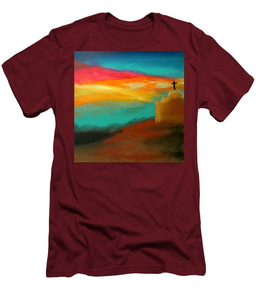 Turquoise Trail Sunset Men's T-Shirt (Athletic Fit)