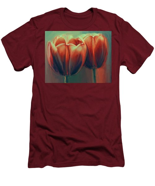 Twin Tulips Men's T-Shirt (Athletic Fit)