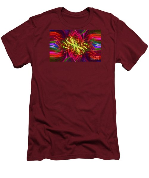 Men's T-Shirt (Slim Fit) featuring the photograph Twirly Mandala 02 by Jack Torcello
