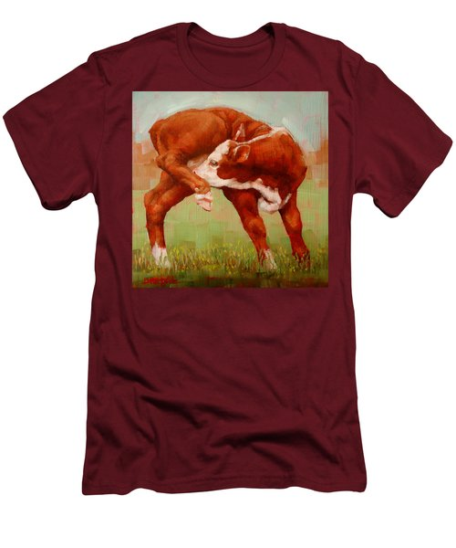 Twisted Calf Men's T-Shirt (Slim Fit) by Margaret Stockdale