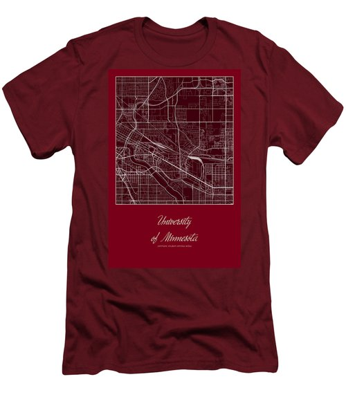 U Of M Street Map - University Of Minnesota Minneapolis Map Men's T-Shirt (Athletic Fit)