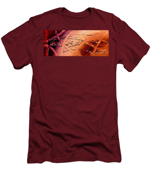Under The Sea Abstract Modern Art By Saribelle Men's T-Shirt (Slim Fit) by Saribelle Rodriguez