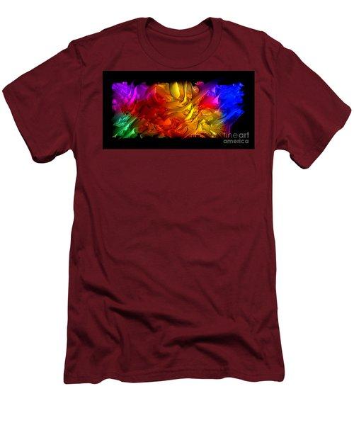 Men's T-Shirt (Athletic Fit) featuring the digital art Unfolding Dream by Rafael Salazar