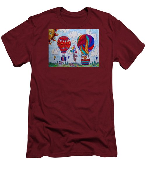 Up Up And Away Men's T-Shirt (Slim Fit) by Megan Walsh