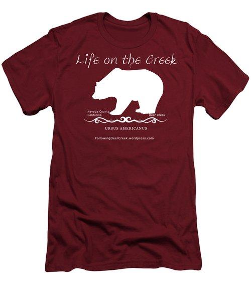 Ursus Americanus - White Text Men's T-Shirt (Athletic Fit)