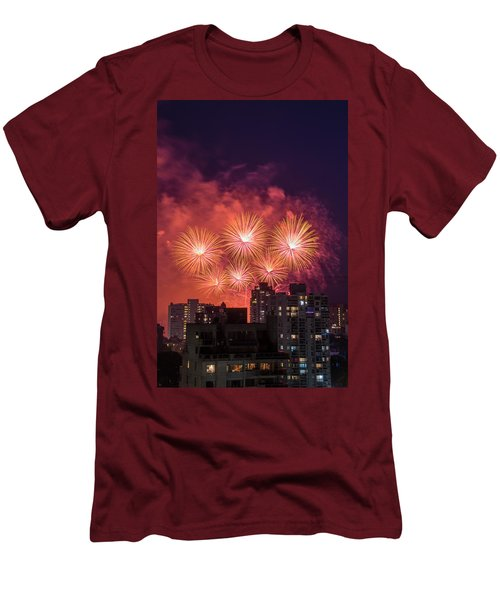Usa 3 Men's T-Shirt (Slim Fit) by Ross G Strachan