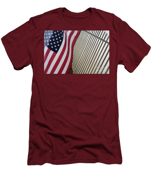Usa All The Way Men's T-Shirt (Athletic Fit)