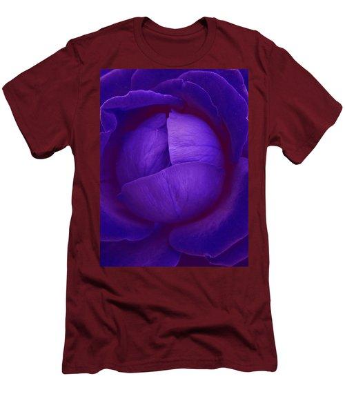 Velvet Blue Lettuce Rose Men's T-Shirt (Slim Fit) by Samantha Thome