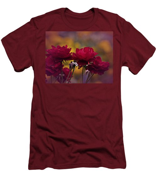 Vintage Aug Red Roses Men's T-Shirt (Athletic Fit)