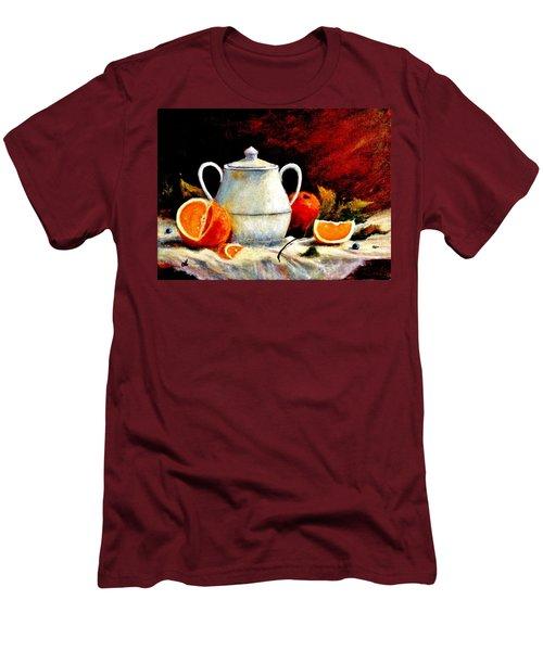 Warm Light Men's T-Shirt (Slim Fit) by Cristina Mihailescu