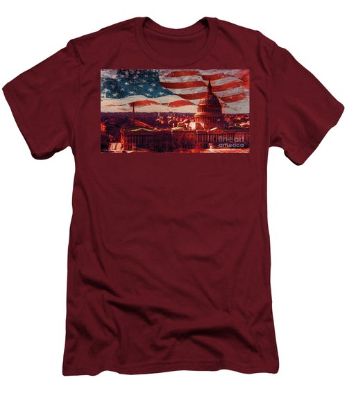Washington Dc Building 76h Men's T-Shirt (Slim Fit) by Gull G