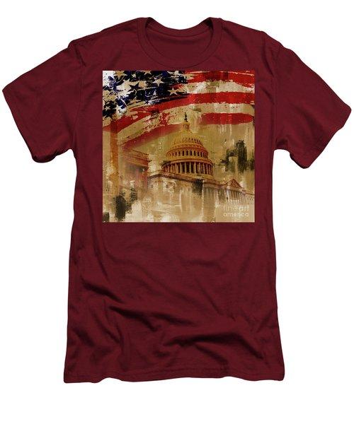 Washington Dc Men's T-Shirt (Slim Fit) by Gull G