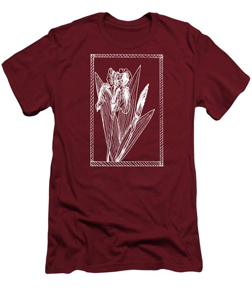 White Iris On Transparent Background Men's T-Shirt (Athletic Fit)