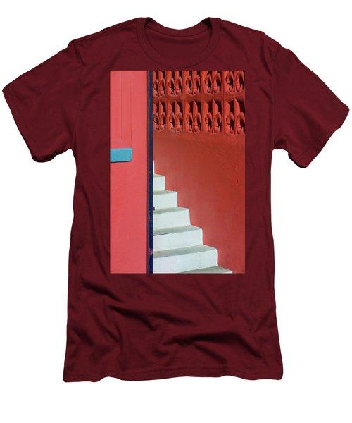 White Staircase Venice Beach California Men's T-Shirt (Athletic Fit)