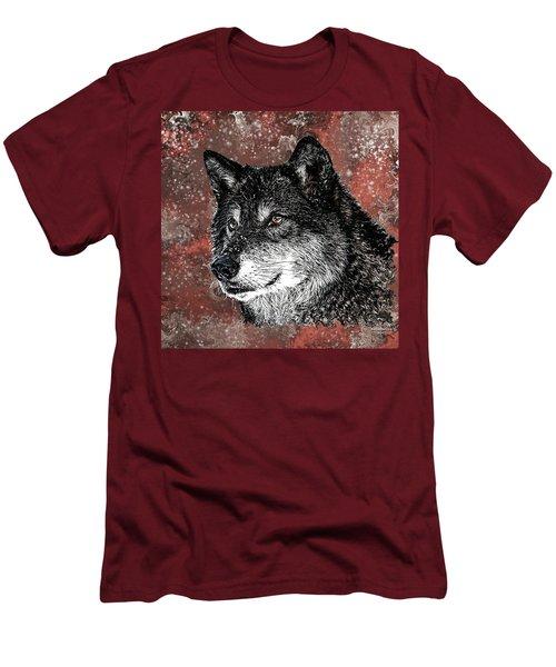 Wild Dark Wolf Men's T-Shirt (Athletic Fit)
