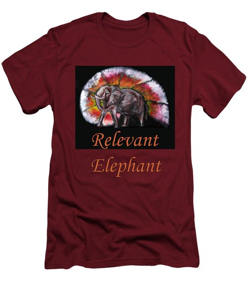 Wild Elephant Men's T-Shirt (Slim Fit) by Tom Conway