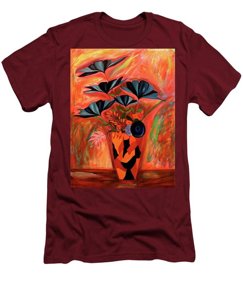 Wild Flowers  A Still Life  Men's T-Shirt (Slim Fit) by Iconic Images Art Gallery David Pucciarelli