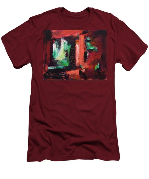 Window Original Acrylic Painting Men's T-Shirt (Athletic Fit)