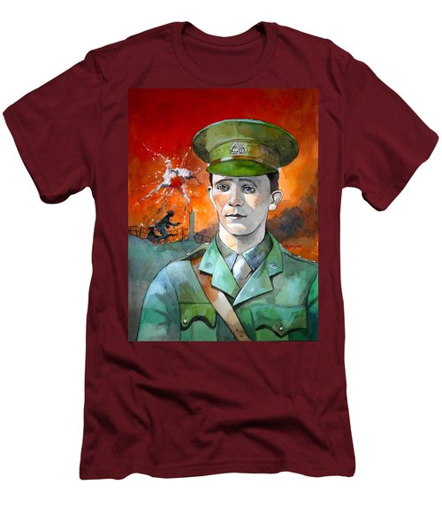 Men's T-Shirt (Slim Fit) featuring the painting W.j. Symons Vc by Ray Agius