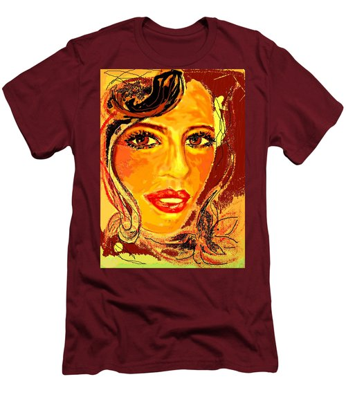 Men's T-Shirt (Slim Fit) featuring the digital art Woman by Desline Vitto