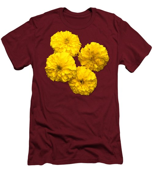 Yellow Flowers Men's T-Shirt (Slim Fit) by Bob Slitzan