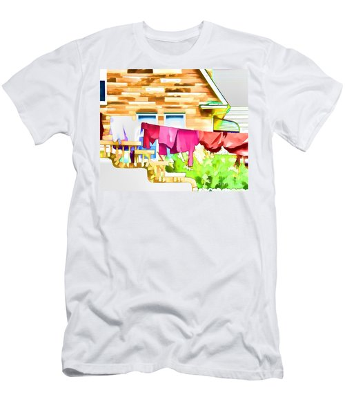 A Summer's Day - Digital Art Men's T-Shirt (Athletic Fit)