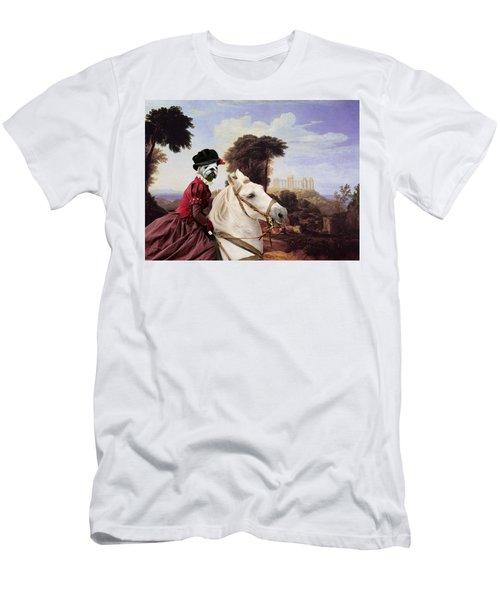 English Bulldog Art Canvas Print - The Noble Lady Men's T-Shirt (Athletic Fit)