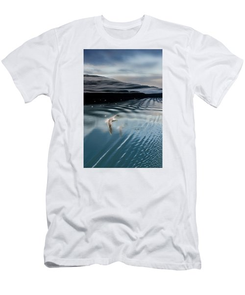 Journey With A Sea Gull Men's T-Shirt (Slim Fit) by Gary Warnimont