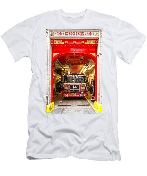 New York Fire Department Engine 14 Men's T-Shirt (Slim Fit) by Luciano Mortula