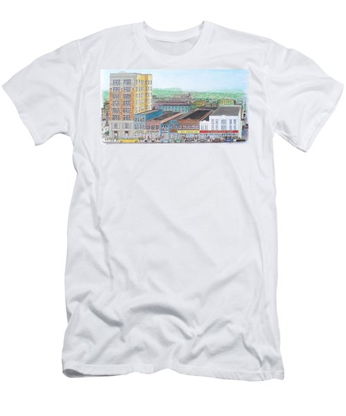 Portsmouth Ohio Dime Store Row 4th To 5th Men's T-Shirt (Slim Fit) by Frank Hunter
