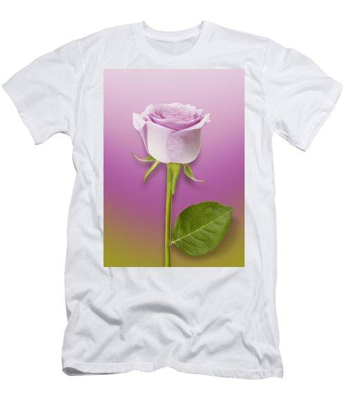 Single Lilac Rose Men's T-Shirt (Athletic Fit)