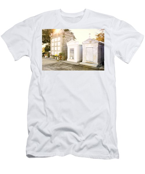 Men's T-Shirt (Slim Fit) featuring the photograph   Tombstones  by Erika Weber