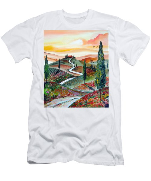 Winding Country Road Among The Hills Of Tuscany Men's T-Shirt (Athletic Fit)