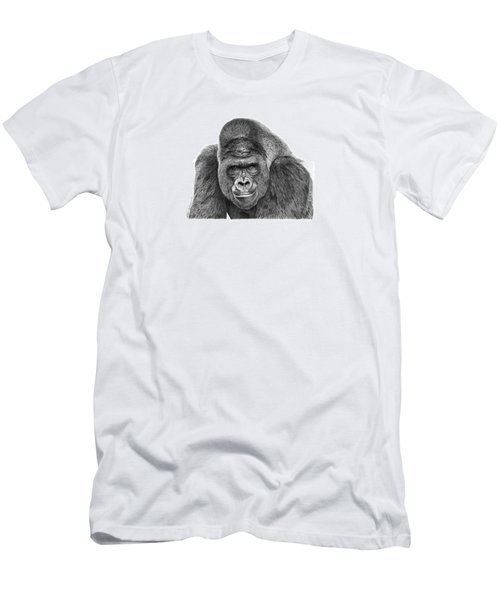 Men's T-Shirt (Slim Fit) featuring the drawing 042 - Gomer The Silverback Gorilla by Abbey Noelle