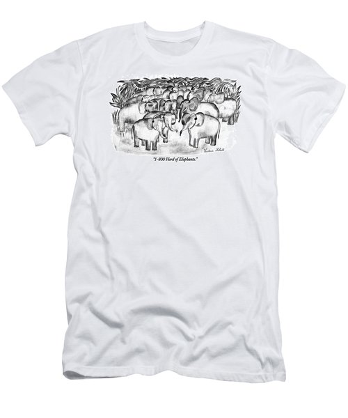 1-800 Herd Of Elephants Men's T-Shirt (Athletic Fit)