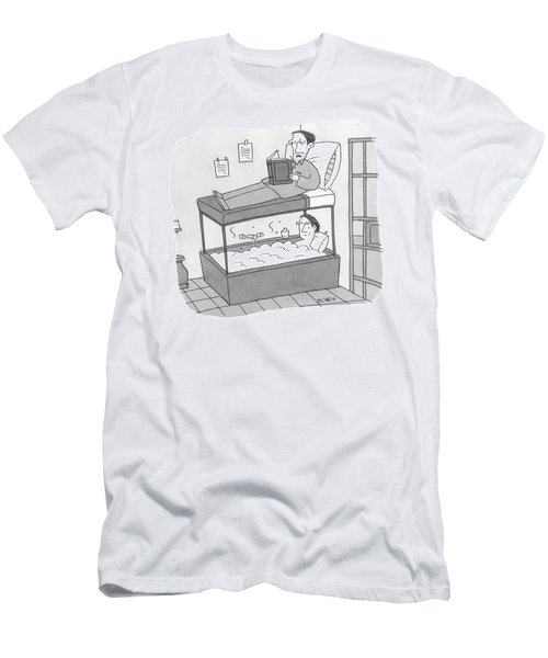 A Bunk Bed With A Bath Tub Instead Of A Lower Bed Men's T-Shirt (Athletic Fit)