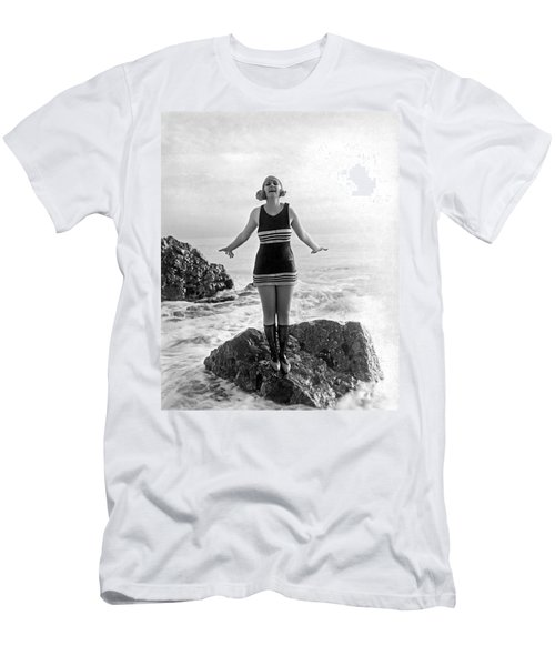 A Flapper In Her Bathing Suit Men's T-Shirt (Athletic Fit)