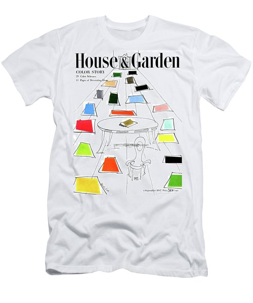 A House And Garden Cover Of Color Swatches Men's T-Shirt (Athletic Fit)