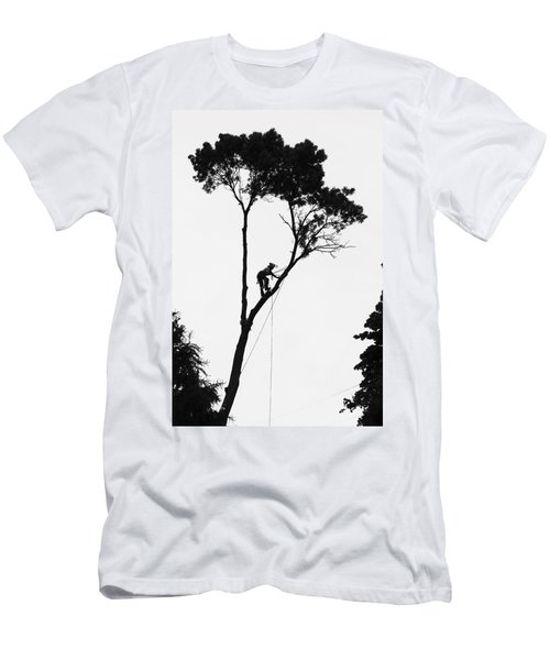 Arborist At Work Men's T-Shirt (Athletic Fit)
