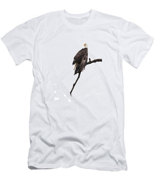 Men's T-Shirt (Slim Fit) featuring the photograph Bald Eagle 5 by David Lester
