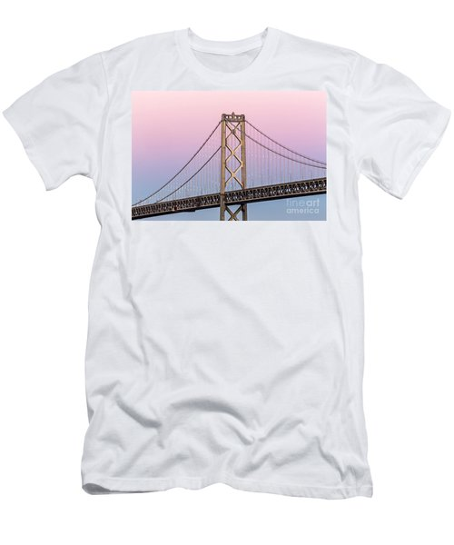 Bay Bridge Lights At Sunset Men's T-Shirt (Athletic Fit)