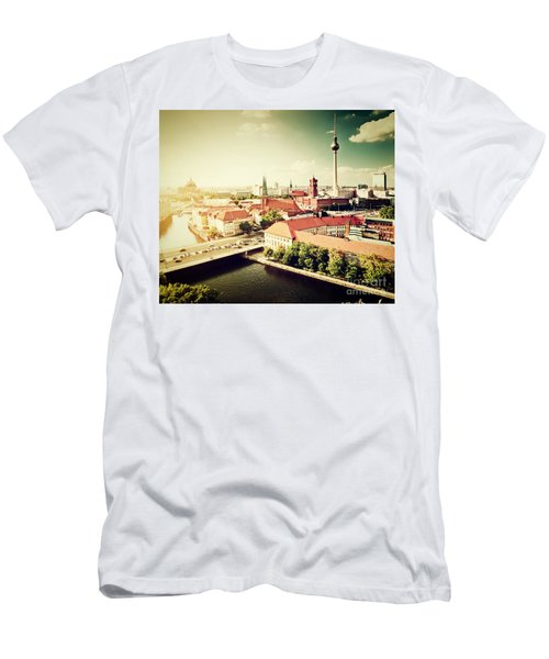 Berlin Germany View On Major Landmarks Men's T-Shirt (Athletic Fit)