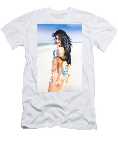 Bikini Fashion Model Men's T-Shirt (Athletic Fit)