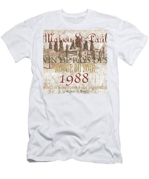 Bordeaux Blanc Label 1 Men's T-Shirt (Athletic Fit)