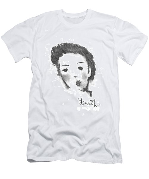 Men's T-Shirt (Slim Fit) featuring the drawing Bubble Gum by Laurie L