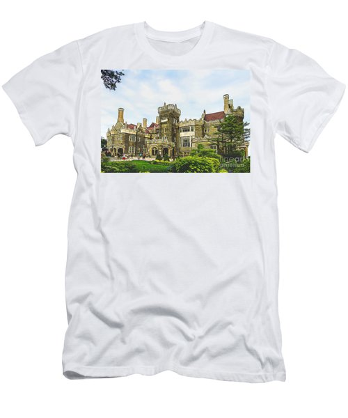 Casa Loma In Toronto Men's T-Shirt (Slim Fit) by Les Palenik