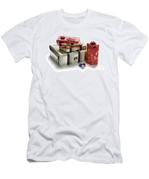 Men's T-Shirt (Slim Fit) featuring the photograph Christmas Gifts by Lee Avison