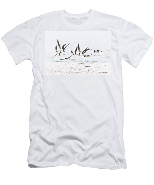 Coastal Skimmers Men's T-Shirt (Slim Fit) by Scott Cameron