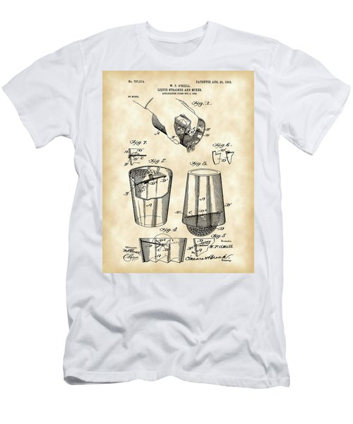 Cocktail Mixer And Strainer Patent 1902 - Vintage Men's T-Shirt (Athletic Fit)